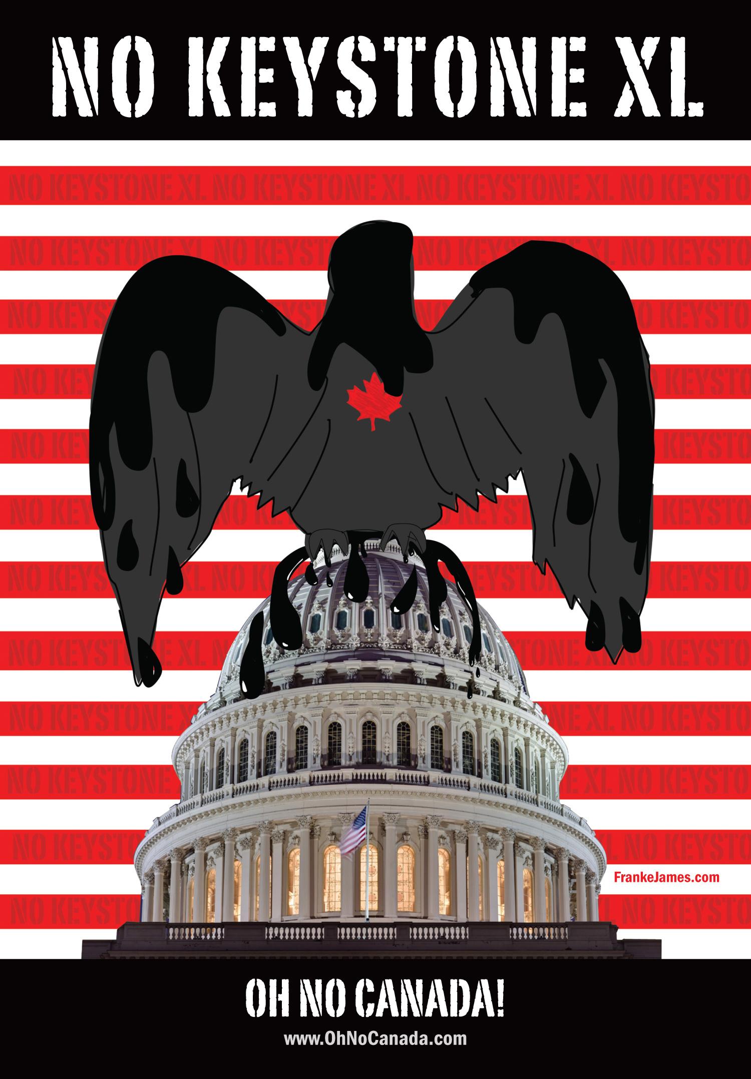 No KXL eagle FrankeJames poster