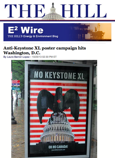 design and photo of No Keystone poster by Franke James